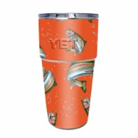 MightySkins YEPINT16SI-Trout Collage Skin for Yeti Rambler 16 oz Stackable Cup - Trout Collag - 1