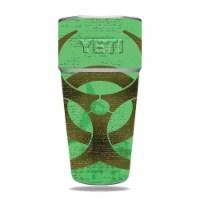 MightySkins CF-YERAM26SI-Biohazard Carbon Fiber Skin for Yeti Rambler 26 oz Stackable Cup - B