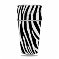 MightySkins CF-YERAM26SI-Black Zebra Carbon Fiber Skin for Yeti Rambler 26 oz Stackable Cup - - 1