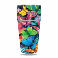 MightySkins CF-YERAM26SI-Butterfly Party Carbon Fiber Skin for Yeti Rambler 26 oz Stackable C - 1