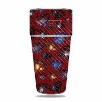 MightySkins CF-YERAM26SI-Diamond Galaxy Carbon Fiber Skin for Yeti Rambler 26 oz Stackable Cu - 1