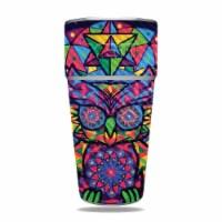 MightySkins CF-YERAM26SI-Goodnight Owl Carbon Fiber Skin for Yeti Rambler 26 oz Stackable Cup - 1