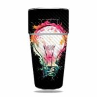 MightySkins CF-YERAM26SI-Idea Splash Carbon Fiber Skin for Yeti Rambler 26 oz Stackable Cup - - 1