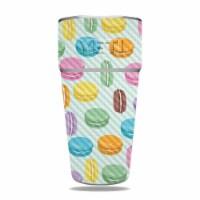 MightySkins CF-YERAM26SI-Macarons Carbon Fiber Skin for Yeti Rambler 26 oz Stackable Cup - Ma