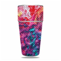MightySkins CF-YERAM26SI-Paint Party Carbon Fiber Skin for Yeti Rambler 26 oz Stackable Cup - - 1