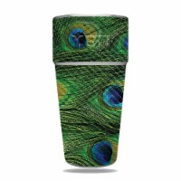 MightySkins CF-YERAM26SI-Peacock Feathers Carbon Fiber Skin for Yeti Rambler 26 oz Stackable