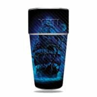 MightySkins CF-YERAM26SI-Pirate Storm Carbon Fiber Skin for Yeti Rambler 26 oz Stackable Cup - 1