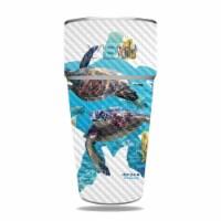MightySkins CF-YERAM26SI-Turtly Cool Carbon Fiber Skin for Yeti Rambler 26 oz Stackable Cup - - 1
