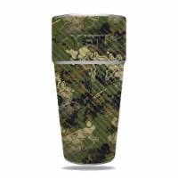 MightySkins CF-YERAM26SI-Viper Woodland Carbon Fiber Skin for Yeti Rambler 26 oz Stackable Cu
