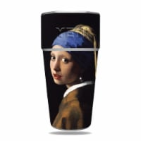 MightySkins YERAM26SI-Girl With Pearl Earring Skin for Yeti Rambler 26 oz Stackable Cup - Gir - 1