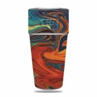 MightySkins YERAM26SI-Lava Water Skin for Yeti Rambler 26 oz Stackable Cup - Lava Water - 1