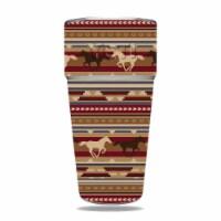 MightySkins YERAM26SI-Western Horses Skin for Yeti Rambler 26 oz Stackable Cup - Western Hors - 1