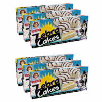 Zebra Cakes, 6 Boxes, 30 Twin-Wrapped Yellow Cakes with Crème Filling and White Icing - 60