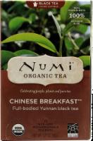 Numi Organic Chinese Breakfast Tea Bags 18 Count - 1.27 oz
