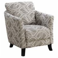 Accent Chair - Taupe Leaf Design Fabric - 1