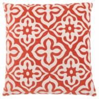 Pillow - 18 X 18  / Orange Motif Design / 1Pc - 1