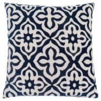 Pillow - 18 X 18  / Dark Blue Motif Design / 1Pc - 1