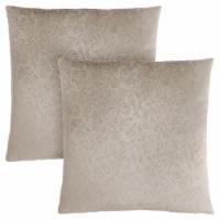 Pillow - 18 X 18  / Taupe Floral Velvet / 2Pcs - 1