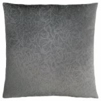 Pillow - 18 X 18  / Dark Grey Floral Velvet / 1Pc - 1