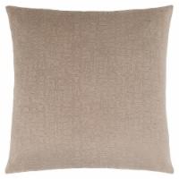 Pillow - 18 X 18  / Taupe Mosaic Velvet / 1Pc - 1