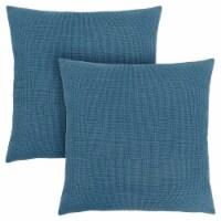 Pillow - 18 X 18  / Patterned Blue / 2Pcs - 1