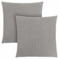 Pillow - 18 X 18  / Patterned Light Grey / 2Pcs - 1