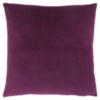 Pillow - 18 X 18  / Purple Diamond Velvet / 1Pc - 1