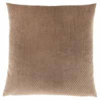 Pillow - 18 X 18  / Beige Diamond Velvet / 1Pc - 1