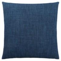 Pillow - 18 X 18  / Linen Patterned Dark Blue / 1Pc - 1