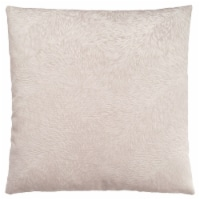 Pillow - 18 X 18  / Light Taupe Feathered Velvet / 1Pc - 1