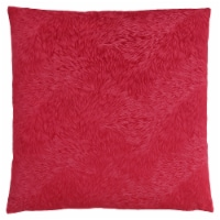 Pillow - 18 X 18  / Red Feathered Velvet / 1Pc - 1