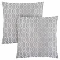 Pillow - 18 X 18  / Grey Wave Pattern / 2Pcs - 1