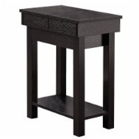 Accent Table - 24 H / Cappuccino With Storage - 1