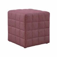 Ottoman - Light Red Linen-Look Fabric - 1