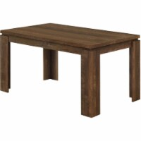 Monarch 59  x 36  Contemporary Wooden Paneled Dining Table in Brown Oak - 1