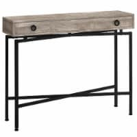 Monarch 42  Mid Century Modern Wood Top Console Table in Taupe and Black - 1