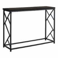 Accent Table - 44 L / Espresso / Black Metal Hall Console - 1