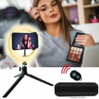 Vivitar 8 Inch Led Ring Light +tripod Mount Stand +power Bank +wireless Remote - 1