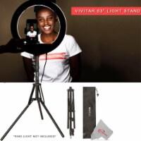 "Vivitar Tabletop 63"" Adjustable Height Multipurpose Light Stand & Carrying Case - 1"
