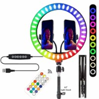 Vivitar Vlog Essentials Full Color RGB LED Ring Light + Kit - 1
