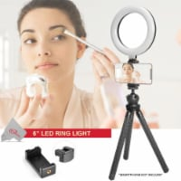 Vivitar Vlog Podcast 6 Inch Led Ring Light Dimmable Lamp For Smartphones/ Iphone - 1