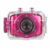 Vivitar Dvr781hd Hd Waterproof Action Video Camera Camcorder (pink) With Helmet & Bike Mounts