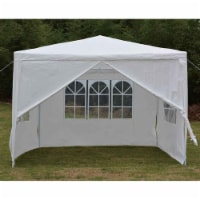 Backyard Expressions 10 Ft. W x 10 Ft. D Metal Party Tent