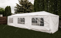 Backyard Expressions 10 Ft. W x 30 Ft. D Steel Party Tent