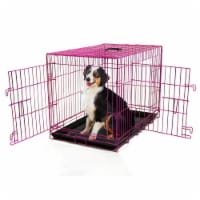 Backyard Expressions Double Door Wire Dog Kennel Pet Crate