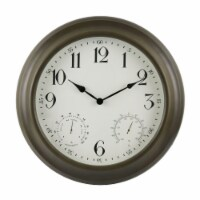 "Backyard Expressions 24"" Wall Clock - 1 Each"