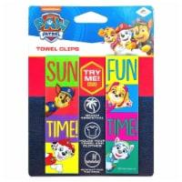 Paw Patrol Beach Towel Clips Sun Fun Time Nickelodeon Pool Secure Bag Chair LogoPegs - 1 unit