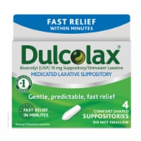 Dulcolax Fast Relief Medicated Laxative Comfort Shaped Suppositories
