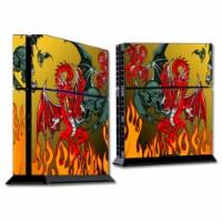 MightySkins SOPS4-Dragon Breath Skin for Sony Playstation 4 PS4 Console Wrap Sticker - Dragon