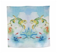Betsy Drake Sea Turtle Print Shower Curtain 70 X 72 In. - One Size